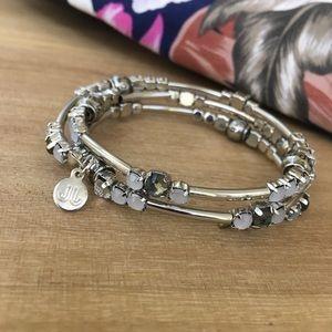 Jewelry - Faith-Hope-Love Expandable Bangle Charm Bracelet